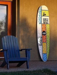 Repurposed surfboard by Will and Jane Fowler.