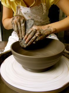 Spin that wheel  Make that pottery  Feel that clay  Create