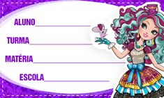 Etiqueta Volta as aulas Ever After High 4