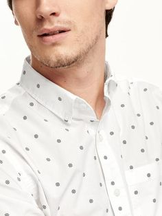 Printed Regular-Fit Poplin Shirt for Men Product Image