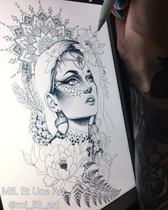 Another design in progress. it was a busy weekend. excited for the last few weeks of 2017 ! Kunst Tattoos, Up Tattoos, Future Tattoos, Body Art Tattoos, Tattoo Drawings, Cool Drawings, Sleeve Tattoos, Gypsy Tattoos, Tatoos