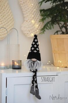 Nordic Gnome Black and White Modern Scandinavian Christmas Collection This listing is for one Gnomewith legs choose one from the drop down menu. Black and White Collection is available in three sizes: MINI and MIDI : available to purchase here :