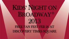 NYC Kids' Night On Broadway Fanfest  http://wp.me/p248Xv-4iO