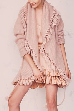 Tassel Cardigan by LoveShackFancy.. Perfect layer for your Autumn outfit www.outdazl.com
