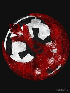 The symbol of the galactic empire overshadowed by a rusty and fading starbird symbol of the rebel alliance... That would make agood part in a book..