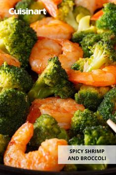 Our delicious Spicy Shrimp and Broccoli #stirfry comes together quickly with the help of our #foodprocessor and non-stick sauté pan. Packed with flavor and a touch of heat, it's the perfect midweek meal for the family! #familydinner #shrimprecipes #seafood #easydinner #cuisinart #savorthegoodlife Spicy Recipes, Shrimp Recipes, Healthy Recipes, Midweek Meals, Easy Meals, Shrimp And Broccoli, Spicy Shrimp, Stir Fry, Entrees