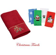 Christmas Bathroom Hand Towels are such a fast and easy way to decorate and spread the holiday cheer throughout the home.