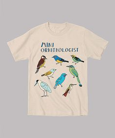 Loving this Vegas Gold 'Mini Ornithologist' Tee - Toddler & Kids on #zulily! #zulilyfinds