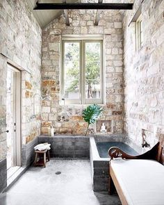 23 Fantastic Rustic Bathroom Design Ideas The bathroom is an intimate space and rustic decor would be suited quite well. It is easy to create rustic bathroom decor. You only need to focus on using Dream Bathrooms, Beautiful Bathrooms, Modern Bathroom, Brick Bathroom, Bohemian Bathroom, Natural Bathroom, Bathroom Interior, Design Bathroom, Rustic Bathrooms