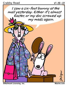 Maxine on the Easter Bunny