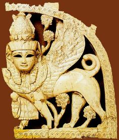 Sphinx throne decoration from Nimrud   9th-8th Century B.C., Lower Mesopotamia, Iraq