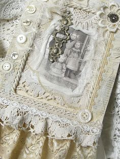 Shabby Chic Inspired: fabric collage