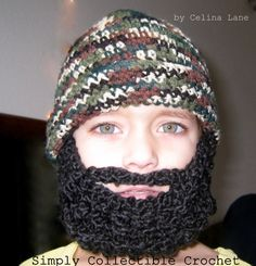 Crochet Beard Pattern Child Beard Hat Pattern- Baby Beanie, Full Beard, Santa Claus PDF- p145 by SimplyCollectible on Etsy https://www.etsy.com/listing/107556736/crochet-beard-pattern-child-beard-hat