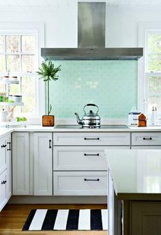 Simple pretty white kitchen.