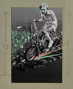 """Saatchi Online Artist: Franz Falckenhaus; Digital, 2011, Assemblage / Collage """"Twiggy Goes NYC"""""""