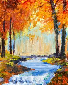 September Stream painting
