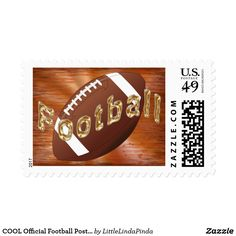 COOL Grunge Football Stamps for your football invitations and football stationery stamps. CLICK: https://www.zazzle.com/z/39jk3 Cool rustic grunge copper golden tones unique background with gold colored football waved across the football stamps. More personalized football party supplies HERE: http://www.zazzle.com/littlelindapinda/gifts?cg=196532339247083789&rf=238147997806552929 Choose from 3 different football stamps sizes and 12 different denominations to fit most football invitations.