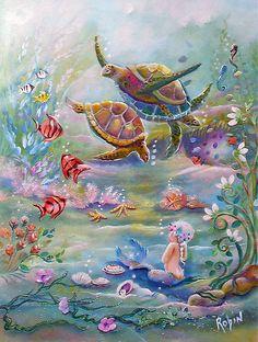 robin pushe'e art   Robin Pushe'e › Portfolio › the Dance of the Sea Turtles