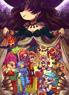 by 日食待ち鍋, fanart from Sailormoon of the Amazoness Quartet, Amazon Trio and Nehelenia