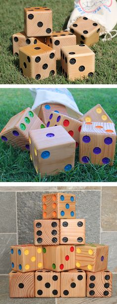 Game on! Imagine the backyard games made possible with giant dice.