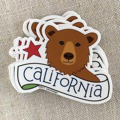 California Bear Vinyl Sticker