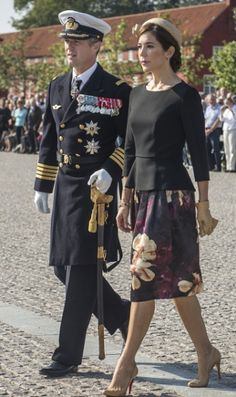 Crown Princess Mary, September 5, 2014 in Susanne Juul | Royal Hats....Crown Prince Frederik and Crown Princess Mary of Denmark attended Flag Day commemorations today.