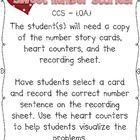 A Valentine's Themed Math Center {Story Problems}Addresses Common Core Standard 1.OA.1For full version of this activity, check out my We Lo...