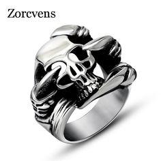 71d281bbf6ae Vintage zinc alloy Alien Predator Ring men Biker Punk ring Graduation anel  Fashion Jewelry Steel Jewelry
