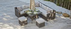 AURA 11 - Rattan Corner Sofa and Dining Combo - Corner Sofas - Outdoor
