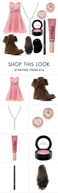 """""""You Go To A Wedding: Chanyeol"""" by scarletpeak ❤ liked on Polyvore featuring Anoushka G, Tiffany & Co., Dana Rebecca Designs, Too Faced Cosmetics, MAC Cosmetics, NARS Cosmetics and Tangle Teezer"""
