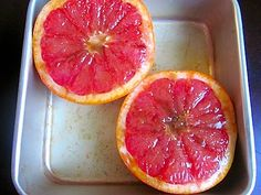If you've never done this before, you are seriously missing out. Grapefruit is good but broiled grapefruit is GOOOOD. The sugars caramelize and the flesh gets a little warm and gooey and it's a sweet, tangy, brûléed masterpiece for your tastebuds. I highly recommend it.