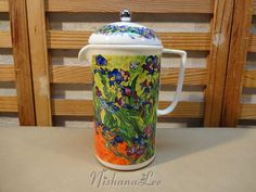 Chaleur China French Press Coffee Pot Master by DebbiesDabblings