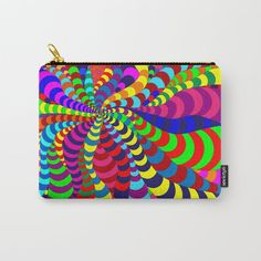 Buy 'Snake Spider' carry all pouch by Notsundoku | Society6 #patterns #doodles #zenart #stripes #squiggles #notsundoku #society6 #brightenupourlife #brightcolors #brightcolours #carryon #pouches #bags