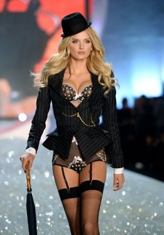 281c5f58589 Lily Donaldson Photos - Model Lily Donaldson walks the runway at the 2013 Victoria s  Secret Fashion Show at Lexington Avenue Armory on November 2013 in New ...
