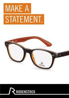 Suchen Sie nach einer neuen Brille? Setzen Sie jeden Tag ein Statement mit dem modernen Design und dem Schuss kräftiger Farbe dieser Rodenstock Brille.