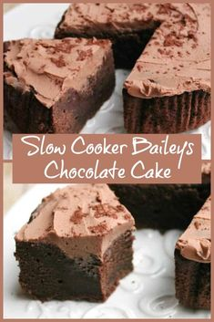 Slow Cooker Baileys Cake - a rich and fudge chocolate Baileys cake with chocolate Baileys buttercream frosting, ideal for Baileys Irish Cream lovers and to enjoy in the Christmas period of indulgence. Baileys Fudge, Baileys Irish, Baking Recipes, Cake Recipes, Dessert Recipes, Chocolate Cake, Chocolate Baileys, Chocolate Recipes, Dairy Free Deserts