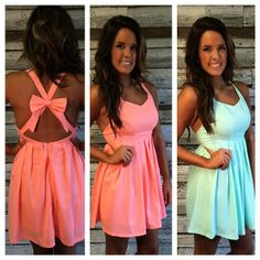 bow back pleated dress