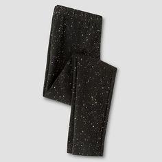 Girls' Leggings Cat & Jack™ - Black Sparkle L : Target