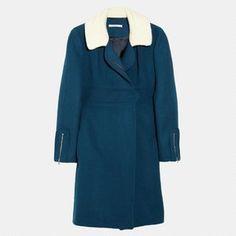Justyna Chrabelska Carven Fleece-Collared Coat