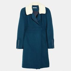 Justyna Chrabelska Carven Fleece-Collared Coat