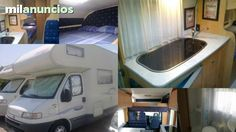 Alquila autocaravana 6 plazas en Julio,  con motor fiat 2. 8 jtd, 130 cv, diesel, capuchina de 6 plazas para viajar y dormir, literas traseras cama doble encima del conductor y salon transformable en cama doble.wc con ducha independiente, equipada con tod