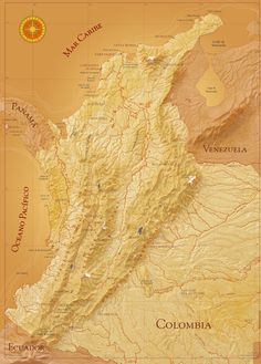 Mapa de Colombia Ecuador, Cartography, Places, Movie Posters, Maps, Colombia Map, Oblivion, Destiny, Earth