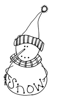 Freebie snowman pattern for those creative holiday projects.