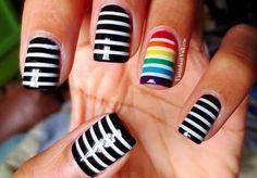 Image via We Heart It https://weheartit.com/entry/81319969/via/13802995 #cute #humanrights #support #lgbt #beauti #nailspolish #nailsart