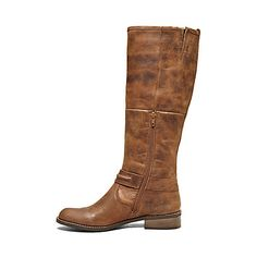 SVEN COGNAC LEATHER women's boot mid casual - Steve Madden