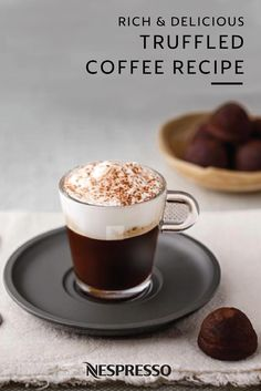 Bold and rich, this Truffled Coffee recipe is a delightful treat. Pair the sweet taste of cocoa powder and honey with the dark intensity of Dharkan. Nespresso coffee adds an irresistible aroma to this one-of-a-kind drink. Check out the full recipe and start subscribing to a Nespresso way of life.