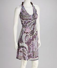 Love this Purple Paisley Halter Dress on #zulily! #zulilyfinds