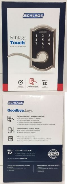 Other Door Hardware 20593: Schlage Touch Camelot Satin Nickel Electronic  Entry Door Lever Fe695 V