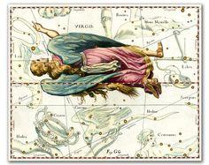 Virgo Constellation vintage celestial map by DejaVuPrintStore, $8.90