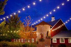 Colorado Elegant Barn Wedding: I love the lights!! It would be so awesome if we could do this!